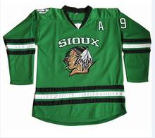 Cheap limit #9 Jonathan Toews North Dakota Fighting Sioux hockey Jersey Double Stitched S-XXXL Free Shipping(China)