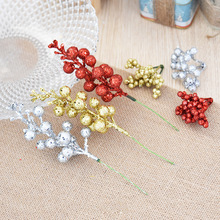 New DIY Sparkle Pink Fruit Imitation Berry Christmas Decorations For Home Navidad Accessories Arvore De Natal Wedding