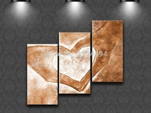 Stretched/ Framed Hand Painted Oil Painting On Canvas set large abstract hand heart picture 3 panels wall art sitting room decor