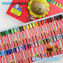 12, 18, 24, 36, 48Colors/Set Washable Oil Pastel Crayons Hexagonal Design Holding Posture Wax Crayons for Kids Drawing Tools
