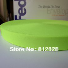 "50 Yards 1"" Solid Neon Green Elastic Tape For Underwear"