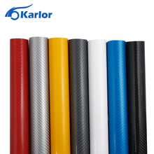 152X10cm 4D Carbon Fiber Vinyl Film 3M Car Stickers Waterproof DIY Motorcycle Car Styling Accessories Wrap With Air free bubbles