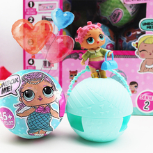 6Pcs Baby Girl Surprise Doll 95mm Funny Finger Toy Egg Ball Water Spray Change Toy Figures For Kids Toys Pet Christmas Gifts(China)
