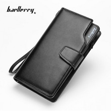 2017 Baellery men wallets Casual wallet men purse Clutch bag Brand Leather Long Wallet Design Hand Bags For Men Purse Clutch Bag