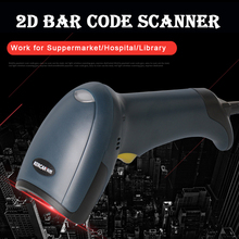 Kercan CCD Wired USB 2D/QR/PDF417/Data Matrix Barcode Scanner CCD Bar Code Reader KR-200 EIO(China)