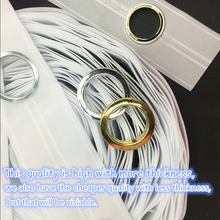 8 Holes/M High quality Curtain accessories polyester white color eyelet curtain tape Contains the curtain ring 10M/roll(China)