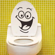 Hot Sale Smiley Face Funny Toilet Bathroom Decal Seat Decor Removable DIY Wall Stickers 0290 Lowest Price High Quality