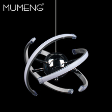 mumeng LED Ball Pendant Light 23W Modern Acrylic kitchen Lamp 85-265V Dining Room Hanging Lighting Adjustable Style Luxture