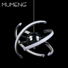 mumeng LED Ball Pendant Light 23W Modern Acrylic kitchen Lamp 85-265V Dining Room Hanging Lighting Adjustable Style Luxture(China)