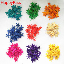 Happy Kiss150pcs/lot diy natural small starfish shell adrift bottle accessories mini sea star natural crafts colors mix conch(China)