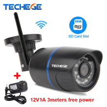Techege 720P WIFI IP Camera Waterproof 1080P HD Network 1.0MP wifi camera day nignt vision Outdoor ip camera free power adapter