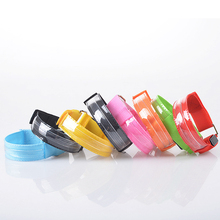 New Nice Flash Led Reflective Strap Snap Wrap Armband Belt Safety Armband Light Up Fun Rave Party(China)