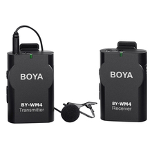 BOYA Universal Wireless Lavalier Microphone for Smartphone Pad PC Tablet DSLR Camera DV Camcorder Audio Recorder Audio Recording