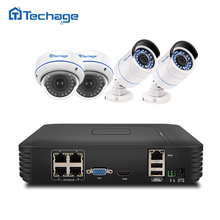 Techage Plug And Play 4CH 1080P POE NVR 2.0MP CCTV System Dome IP Indoor Outdoor Camera P2P IR FULL HD Security Surveillance Kit