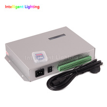 T-300K SD Card online VIA PC RGB Full color led pixel module controller T300K 8 ports 8192 pixels ws2811 ws2801(China)