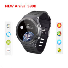 2017 New arrival S99B Fashion Bluetooth Smart Watch Heart Rate Smartwatch Fitness Tracker   WIFI GPS clock For Android IOS