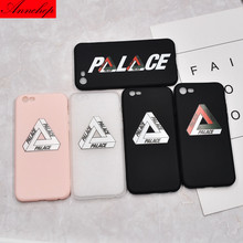 Luxury Brand Simple Palace skateboard soft silicon Case For iphone 7 7 Plus 6 6s Plus 5s SE Cover Capa coque funda case Fashion