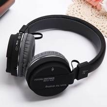 2017 New Bluetooth Headphone Wireless with Mic TF Card FM For Iphone 7 Smart Power Off New Headphone Bluetooth Wireless 215B(China)