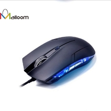 Malloom New Cobra Optical 1600 DPI USB Wired Gaming Game Mouse For Games PC Laptop Black(China)