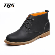 TBA Original Brand Fashion Cheap Autumn Winter Mens Casual Ankle Boots England Retro Outdoor Tooling Lace Up Boats For Man(China)