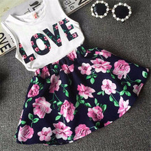 2017 Hot Sale 3-8Y Toddler Baby Girls Kids Tutu Crochet Lace Dres Sleeveless Princess Dress Girls Clothes LR3