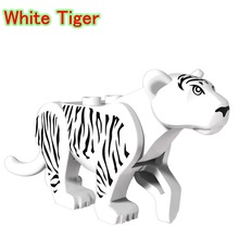 White Tiger Mini Dolls Single Sale Prince of Persia Jungle Adventure Series Animal Building Blocks Toys For Children PG1048(China)