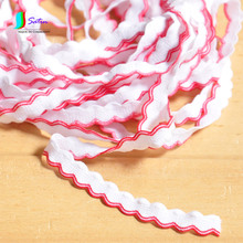 Red Edge White Wave Lace Elastic Bands Webbing Underwear Sock Cuff Garment Decorative Applique Elastic Band Width 0.9cm S0202N(China)