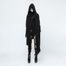 Punk Women Irregular Loose Death Cloak Coats Steampunk Gothic Black Casual Hooded Outer Wear Hot Selling