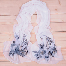 160*50CM Long Fashion Chiffon Scarf,Floral Print Elegant Cheap Ladies Scarves 2015,Spring And Autumn Scarf,Viscose Shawls XF0025