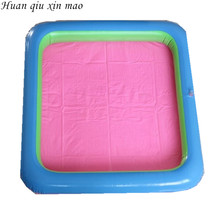 New square 65* 65cm inflatable toys sand Tray ultra-light clay sand Space Accessories  special  Indoor Magic Play Sand Accessor