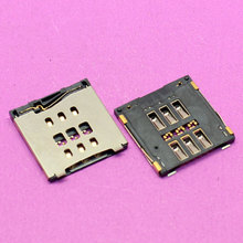 YuXi Brand New sim card reader holder connector for iphone 6 PLUS 6G 4.7 5.5 memory card tray slot module.(China)