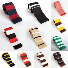 New Arrive Knitted Ties Knit Leisure Striped Ties Knitting Wool Neck Ties 100% Brand New Commercial Men Ties