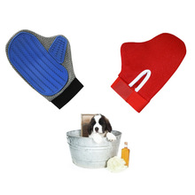 Pet Beauty Cleaning Rubber Gloves Animal Bath Grooming Brush Massage Glove Dogs Cats Beauty Massage Hair Removal Brush Comb Glo