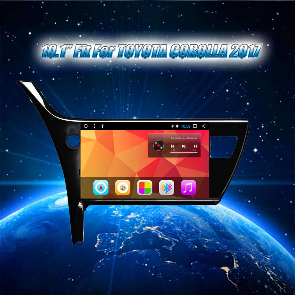 Krando Android car radio gps navigation multimedia system for Toyota Corolla 2017 10 (4)