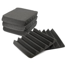 8Pcs Soundproofing Foam Acoustic Foam Sound Treatment Studio Room Absorption Wedge Tiles Polyurethane Foam 305 x 305 x 45mm(China)