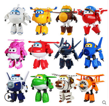 12 styles 2017 New Arrival Big Size 15cm Super Wings Cartoon Transformation Robot Plane toys Action Figure Toys for childrens