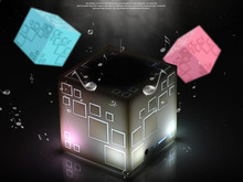 10pcs/lot Portable Mini Bluetooth Speaker LED 3W Stereo Sound Box Mp3 Player Subwoofer Speakers For iPod/iPhone/MP3/Computer