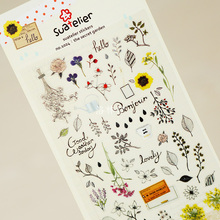 Fresh Style Secret Garden Adhesive Stickers Scrapbooking DIY Decoration Stickers Mobile Phone Stickers