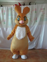 2014 Hot selling Adult cartoon lovely brown rabbit mascot costume fancy dress party costume adult size