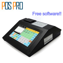 IPCR008 Free Software Touch Screen Automatic Electronic Money Cash Register All in one POS for Restaurant/Drink/milk/tea Shop