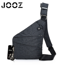 JOOZ Brand 2017 New Bring Summer Black Single Shoulder Bag for Man Waterproof Nylon Crossbody bags Male Messenger Bags SMT-6016#(China)