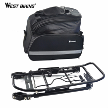 WEST BIKING 25kg Loading Capacity Bike Bicycle Rear Rack Backpack Seat Tail Carrier Trunk Pannier Bag Bike Rack With Package