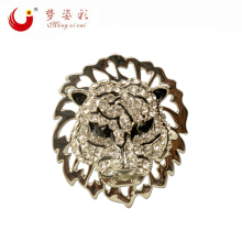 Women Jewelery Costume Silver Plated Crystal Tiger Brooches Scarf Lapel Pins Badge Collar Brosh boutonniere Animal Brooch 2016