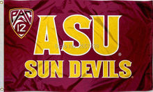 ASU Sun Devils Pac 12 Logo Flag 3x5FT NFL banner150X90CM 100D Polyester brass grommets custom flag, Free Shipping(China)