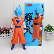 42cm Anime Cartoon Dragon Ball Z Super Saiyan Son Goku PVC Action Figure Toy Collectable Model Doll(China)
