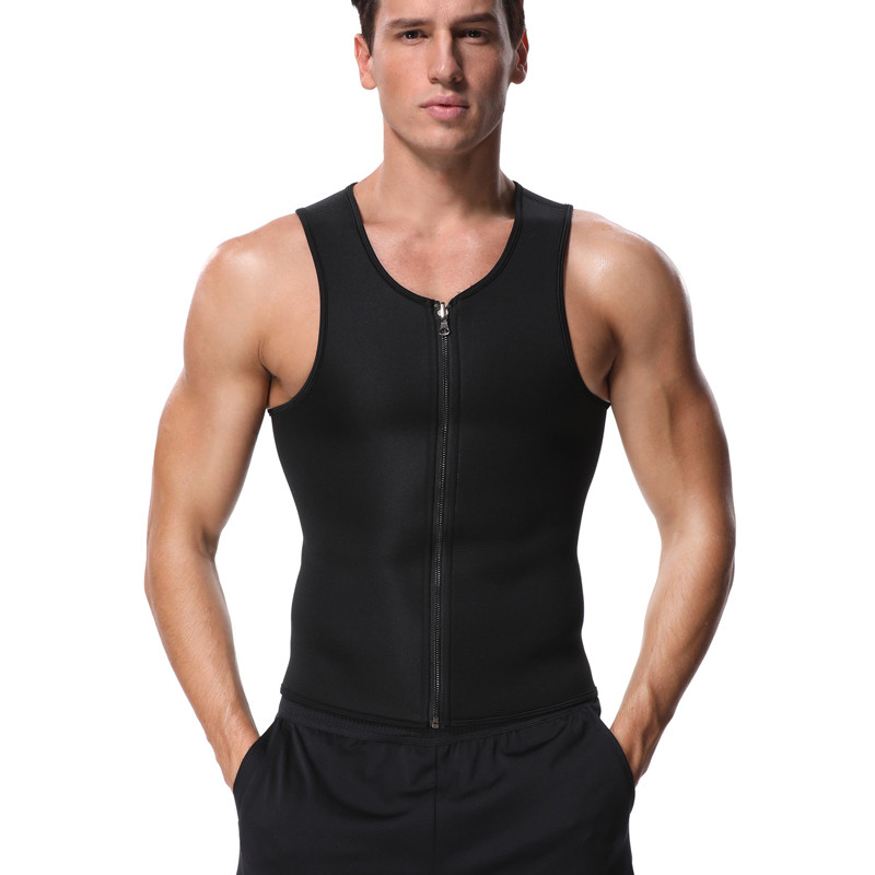 Miss Moly Mens Neoprene Corset Sauna Vest Zipper Sweat Waist Trainer Slimming Thermo Shapewear Body Shaper fajas modeladoras Top 6