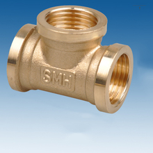 "3/4"" BSP Female Thread Tee Type 3 Way Brass Pipe Fitting Adapter Coupler Connector For Water Fuel Gas"