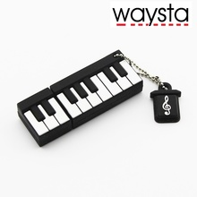 Waysta 64gb MINI Piano USB Flash Drive 1gb 2gb 4gb 8gb 16gb flash memory usb stick Pen Drives 32gb U DISK