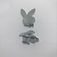 50Pcs Rabbit Logo Decal Car  Fender Side Rear Trunk Lid Emblem Badge Nameplate For  for VW Jetta Golf Polo GM