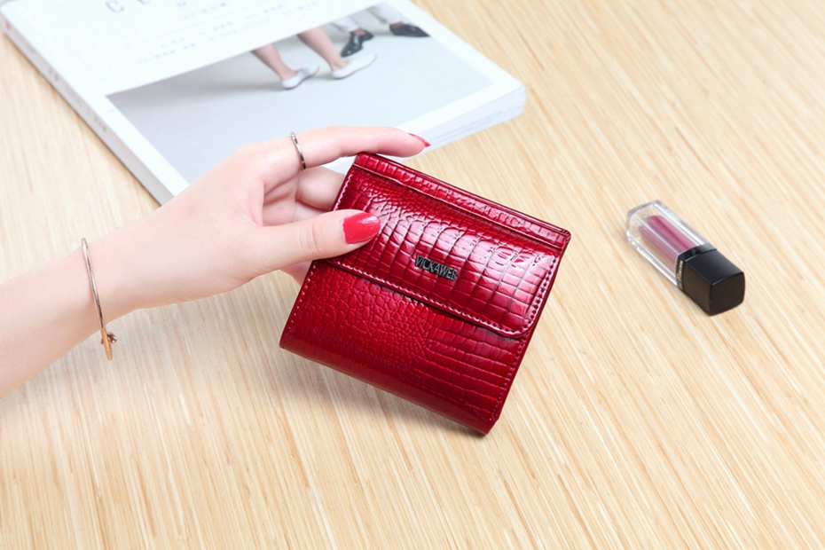 VICKAWEB Mini Wallet Women Genuine Leather Wallets Fashion Alligator Hasp Short Wallet Female Small Woman Wallets And Purses-IMG_6472